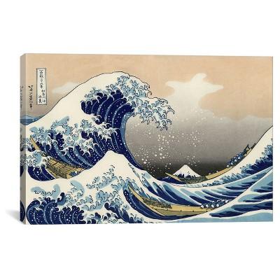 The Great Wave at Kanagawa 1829 by Katsushika Hokusai Canvas Print