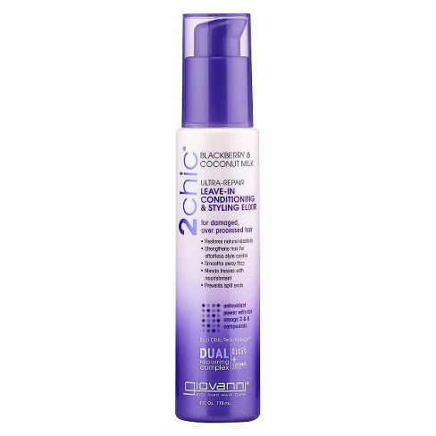 Giovanni 2chic® Blackberry & Coconut Milk Ultra-Repair Leave-in Conditioning & Styling Elixir - 4oz - image 1 of 1