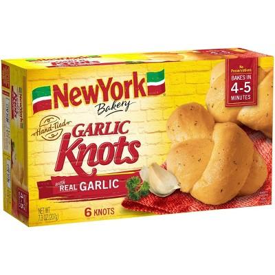 New York Bakery Hand Tied Frozen Garlic Knots - 7.3oz