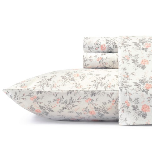 Cotton Flannel Sheet Set - Laura Ashley - image 1 of 3