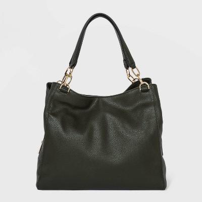 Zip Closure Shoulder Bag - A New Day™