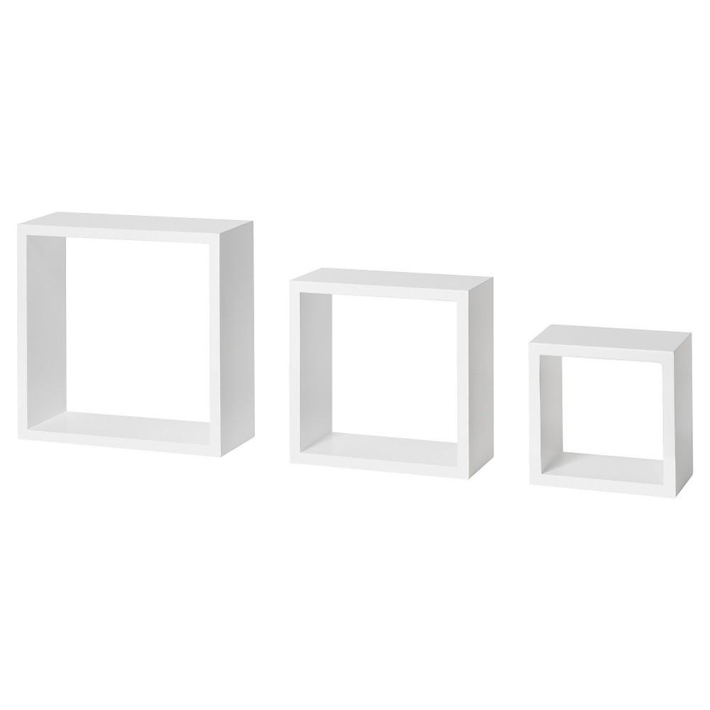 Image of Dolle Floating Shelf Set of Box Frames - White