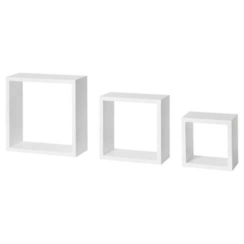 Dolle Floating Shelf Set of Box Frames - White : Target