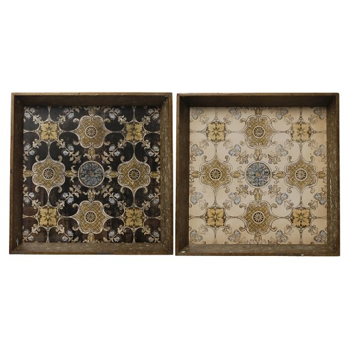 "Decorative Trays (20""x20"") - Set of 2 - A&B Home - image 1 of 2"