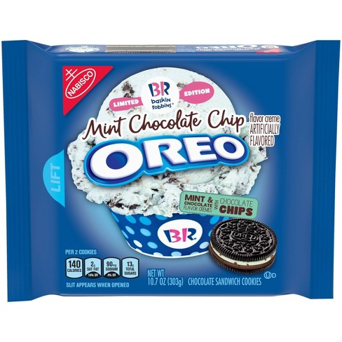 Oreo Baskin Robbins Mint Chocolate Sandwich Cookies - 10.7oz - image 1 of 4