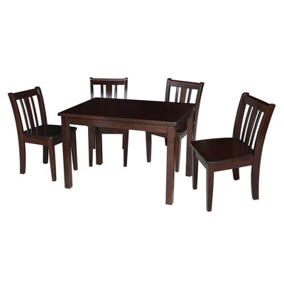 Kids' Table with 4 San Remo Juvenile Chairs Rich Mocha - International Concepts
