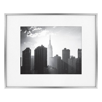 """16"""" x 20"""" Matted to 11"""" x 14"""" Thin Metal Gallery Frame - Project 62™"""