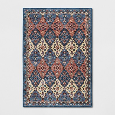 7'X10' Tufted PersianArea Rugs Blue - Threshold™