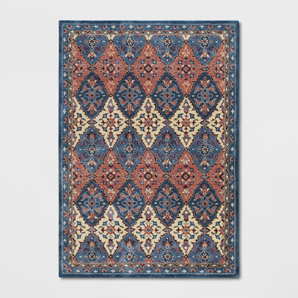 7 39 X10 39 Tufted Persianarea Rug Blue Threshold 8482