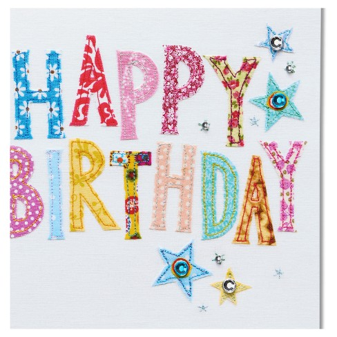Papyrus Happy Birthday Stitching Card Target