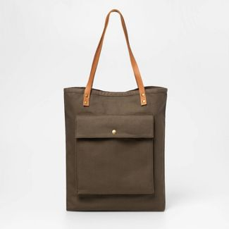 "27"" x 3.5"" Market Canvas Tote Green - Smith & Hawken™"