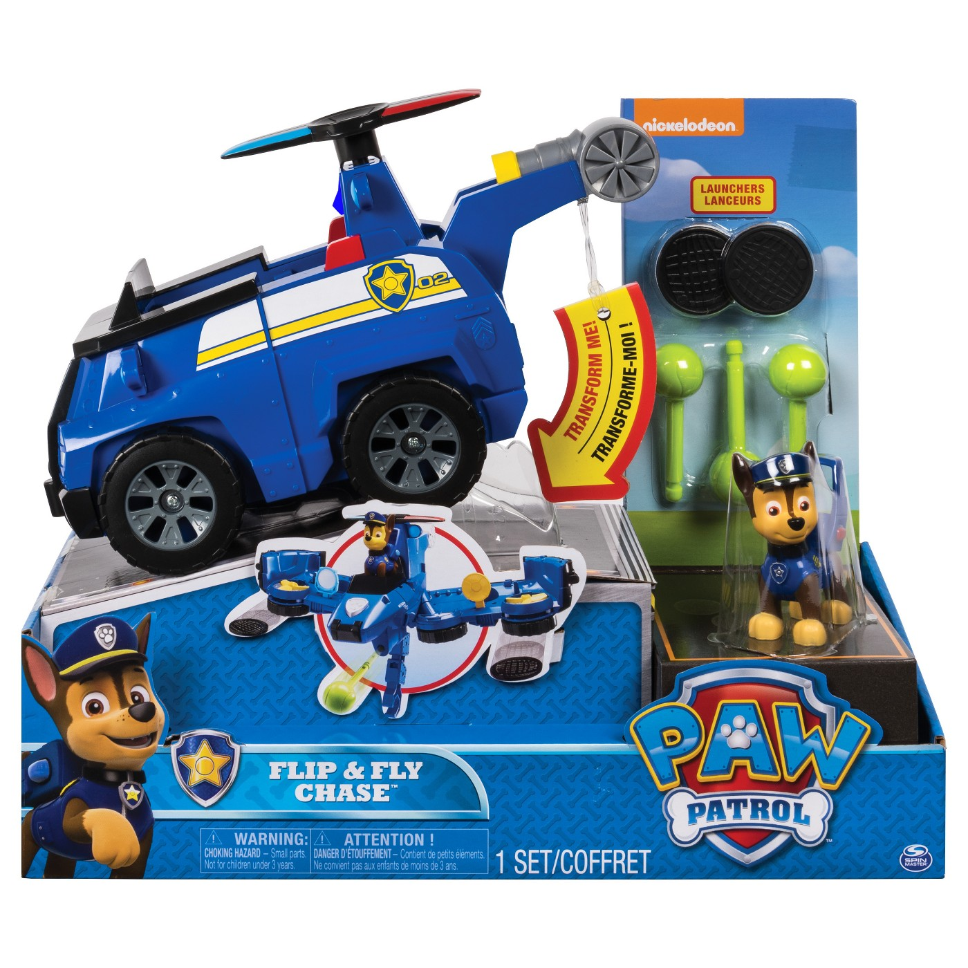 Paw Patrol Flip and Fly Vehicle Assortment - Chase - image 1 of 9