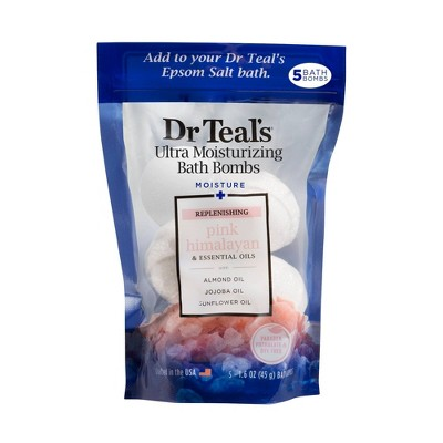 Dr Teal's Replenishing Pink Himalayan Ultra Moisturizing Bath Bombs - 5ct
