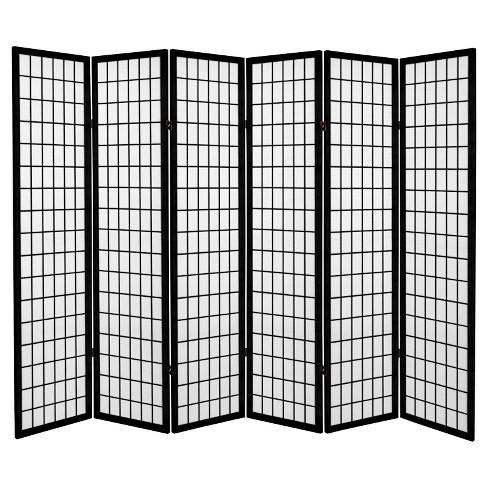 6 Ft Tall Canvas Window Pane Room Divider Black Target