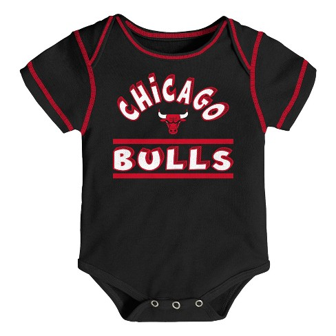 NBA Chicago Bulls Boys  3pk Bodysuits   Target b2fda5784