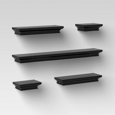 5pc Traditional Shelf Set Black - Threshold™