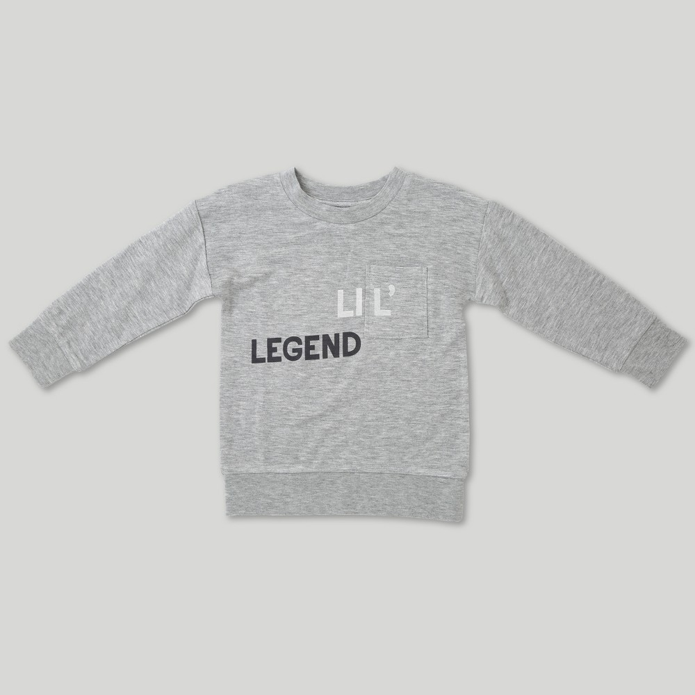 Afton Street Toddler Boys' Sweatshirt - Gray 18M