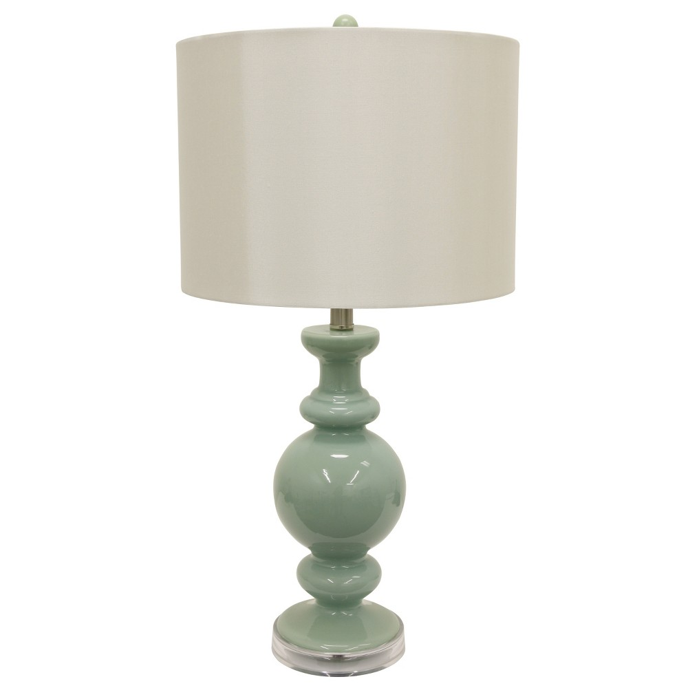"Image of ""27"""" Logan Glass Table Lamp Jade - Decor Therapy, Green"""