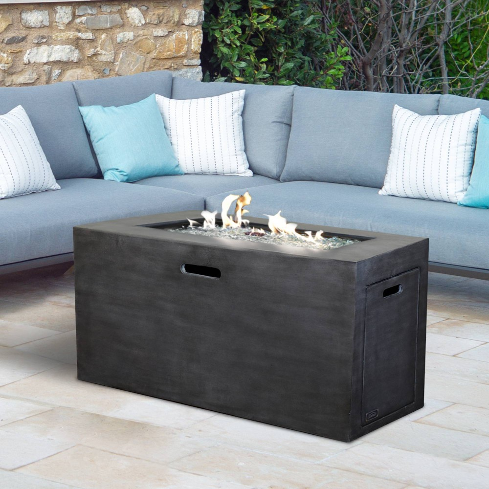 Image of Contempo Cement Natural Gas/Propane Patio Fire Pit Table - Sunbeam