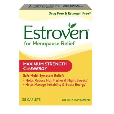 Vitamins & Supplements: Estroven Menopause Relief + Energy Maximum Strength
