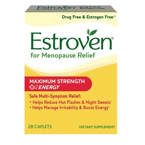 Estroven Menopause Relief Maximum Strength & Energy Dietary Supplement Caplets - 28ct - image 1 of 2