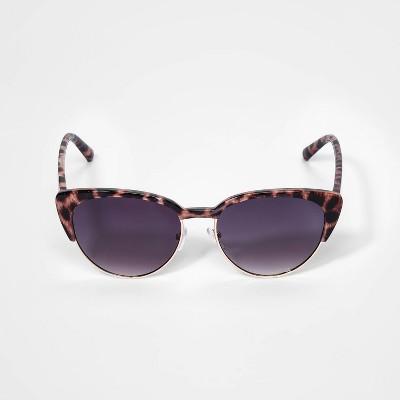 Girls' Leopard Print Sunglasses - art class™ Brown