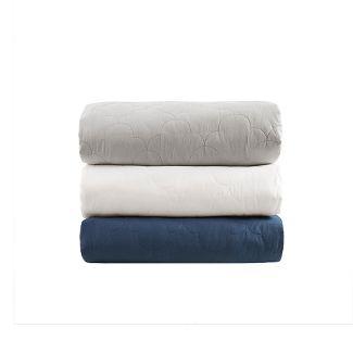 60u0022x70u0022 12lb Deluxe Cotton Weighted Blanket Navy - Beautyrest