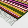 7'x10' Basket Stripe Outdoor Rug Green/Pink - Opalhouse™ - image 2 of 3