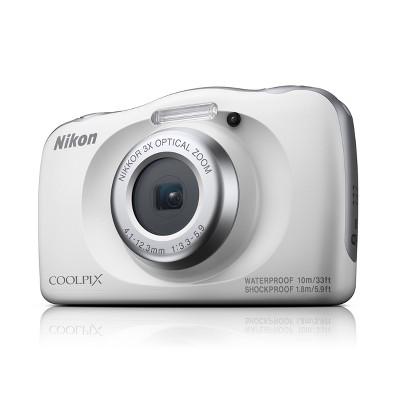 Nikon COOLPIX W150 13.2MP Waterproof Digital Camera with 3x Zoom - White