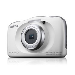 Nikon COOLPIX W150 13.2MP Waterproof Digital Camera with 3x Zoom - White