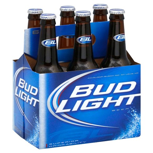 Bud Light® Beer - 6pk / 12oz Bottles - image 1 of 1