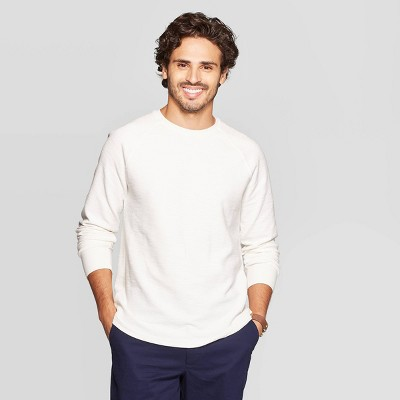 Men's Standard Fit Long Sleeve Textured Crew Neck Shirt   Goodfellow & Co™ by Goodfellow & Co
