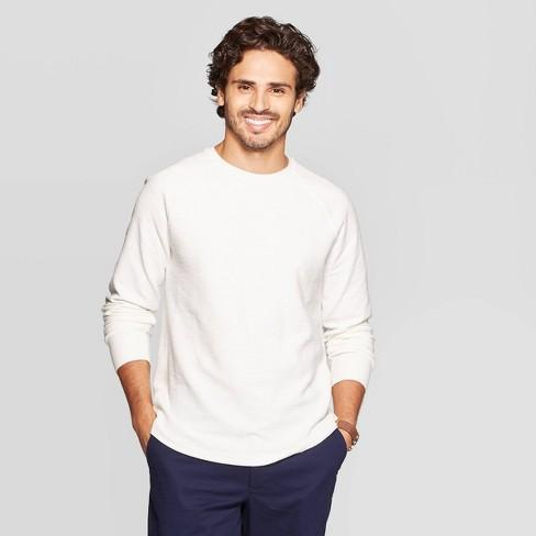 Men's Standard Fit Long Sleeve Textured Crew Neck Shirt - Goodfellow & Co™ - image 1 of 3