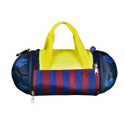 La Liga FC Barcelona Collapsible Soccer Ball Yellow Duffel Bag