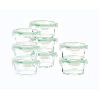 Kinetic Go Green Glassworks Round Food Storage Container Set - 22oz