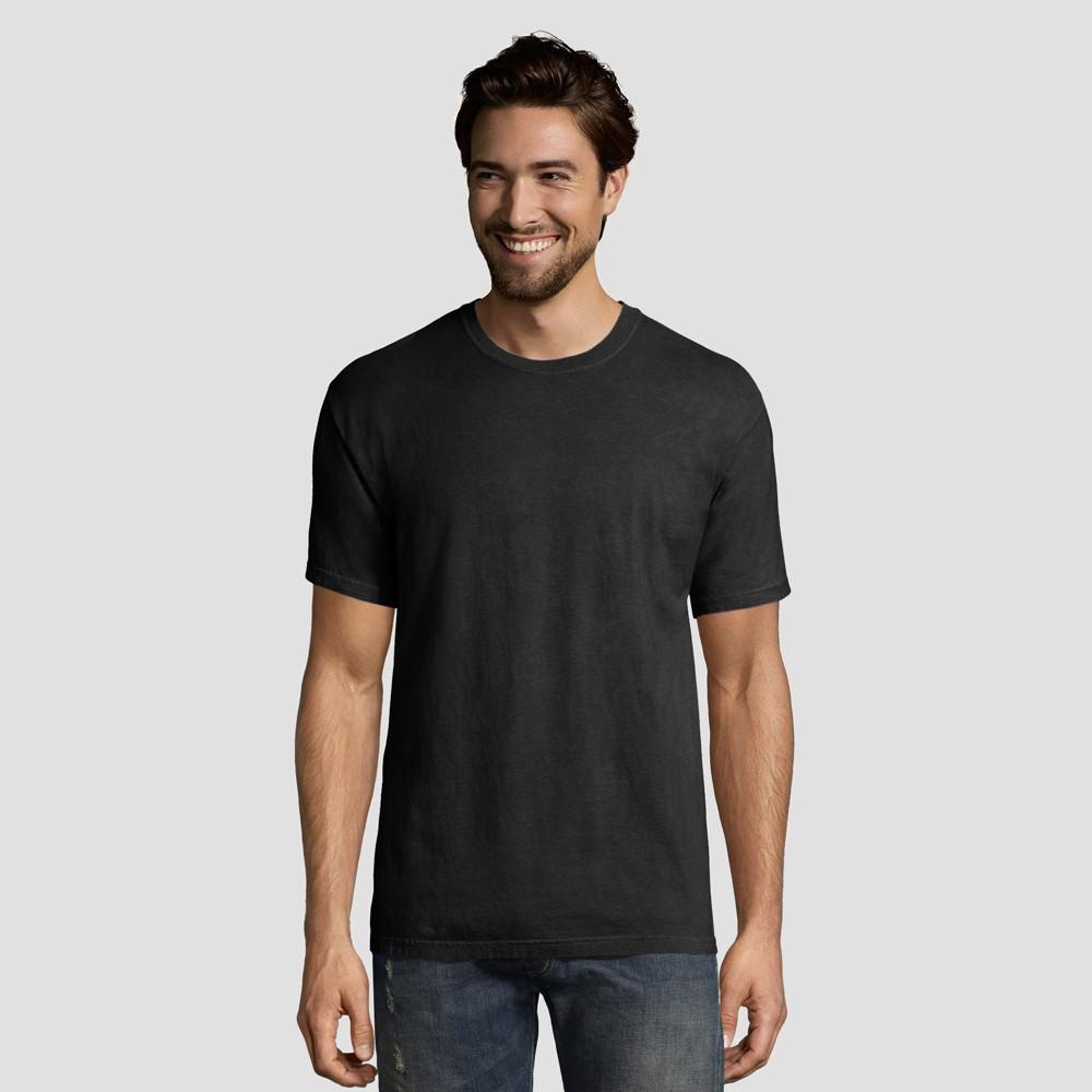 Hanes 1901 Men S Short Sleeve T Shirt Black 2xl