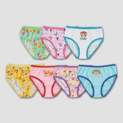 Girls' Emoji 7pk Underwear - 4