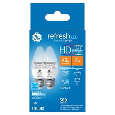 Refresh Daylight Hd 40Watt Equivalent Deco Bc Blunt Tip Med Base LED 2pk