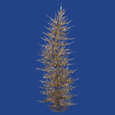 Vickerman Champagne Laser Christmas Artificial Tree