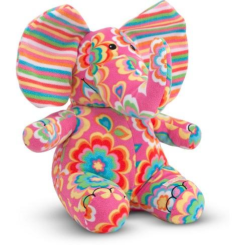 Melissa Doug Sally Elephant Patterned Pal Stuffed Animal Target