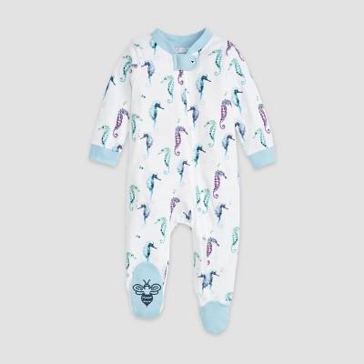 Burt's Bees Baby® Baby Boys' Organic Cotton I See Seahorses Sleep N' Play - White 0-3M