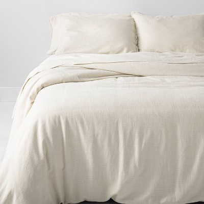 Full/Queen Heavyweight Linen Blend Comforter & Sham Set Natural - Casaluna™
