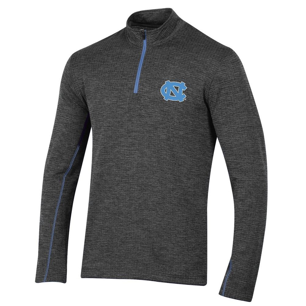 North Carolina Tar Heels Men's Long Sleeve Digital Textured 1/4 Zip Fleece - Gray L