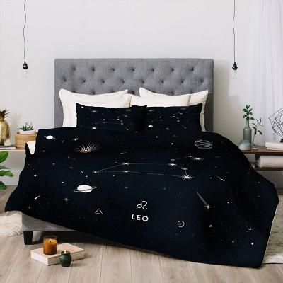 Cuss Yeah Designs Leo Star Constellation Comforter Set - Deny Designs