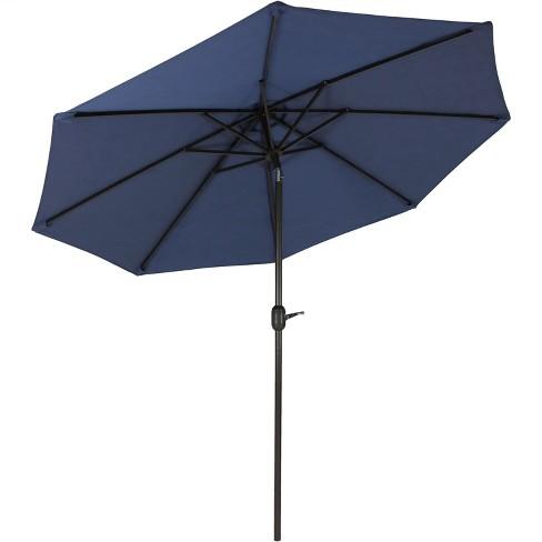 Aluminum Fade-Resistant Market Tilt Patio Umbrella 9' - Navy Blue - Sunnydaze Decor - image 1 of 4
