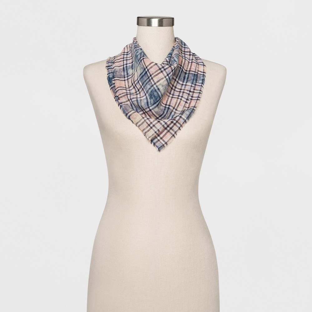 Women's Plaid Bandana - Universal Thread Blue