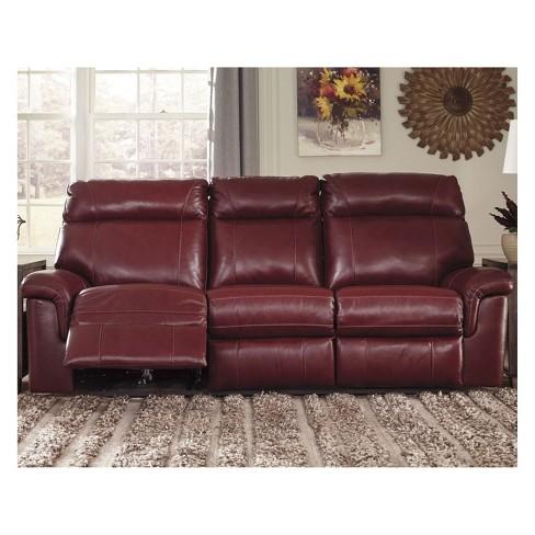 Duvic Reclining Sofa With Adjule Headrest Crimson Signature Design By Ashley Target