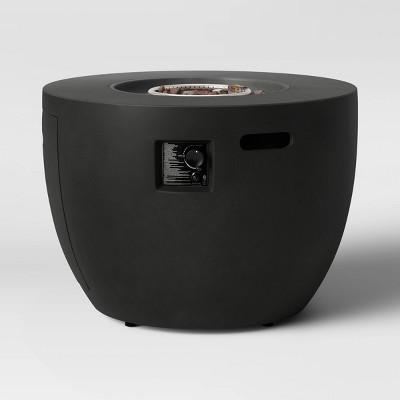 36  Round Pipestone Propane Fire Bowl - Black - Project 62™