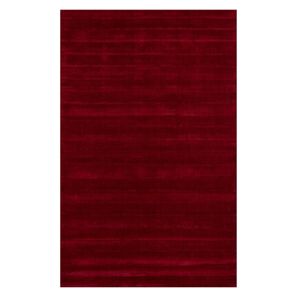 8'X11' Solid Tufted Area Rug Red - Momeni