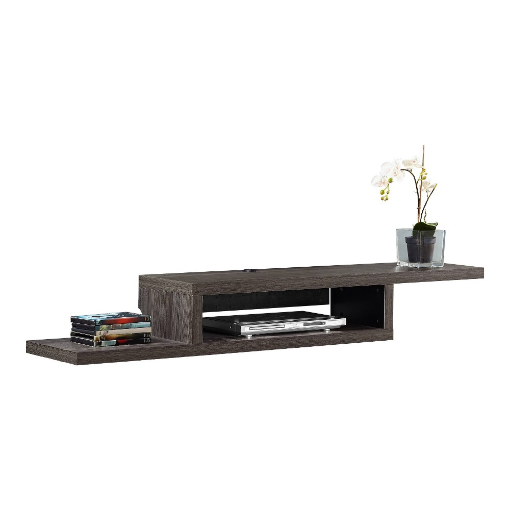 "Image of ""60"""" Skyline Wall Mounted Media Console Nut Brown - Martin Furniture, Size: 60"""""""